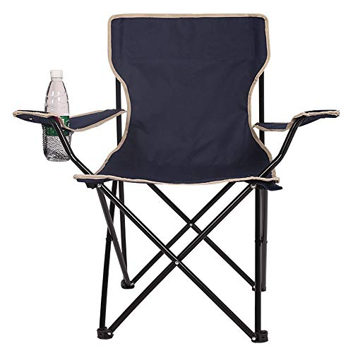 Alppq Built-In Festival plegable silla plegable de camping al aire libre silla ligera heces compacta del sostenedor de taza correa de transporte duradero Sillón Sofá de campamento de verano barbacoa J