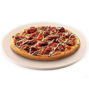 Waykea - Piedra redonda de pizza para horno de tostadora, piedra de piedra de cordierita para horno para parrilla, horno