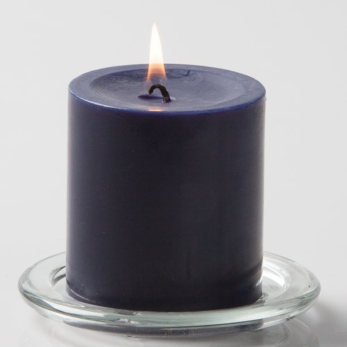 Richland 3' X 3' Hand Poured Navy Blue Pillar Candle