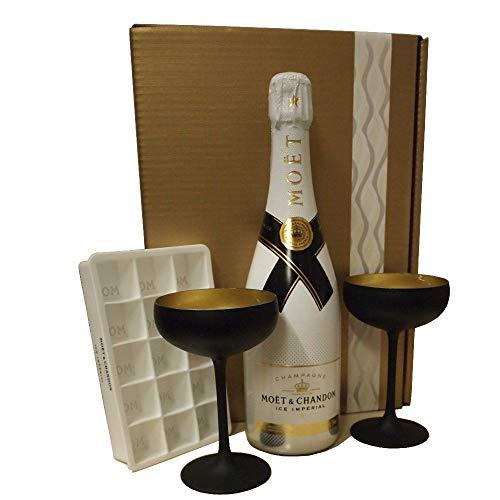 Moet & Chandon Ice Geschenk-Set mit Champagnergläsern und Eiswürfelform