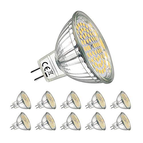 Preisvergleich Produktbild MR16 LED Warmweiss, MYUANGO 10er MR16 GU5.3 12V LED Lampe, 5W Warmweiß 2700K Ersetzt 40W Halogenlampe, Kein Stroboskopeffekt, 400Lumen Birne Leuchtmittel, 120° Abstrahwinkel Spot, Nicht Dimmbar