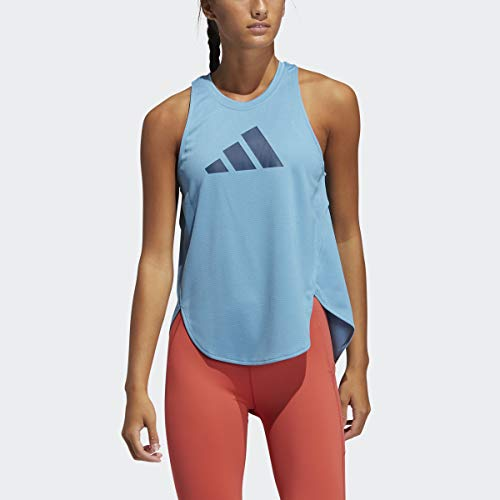 adidas womens Badge of Sport Logo Tank Hazy Blue/Crew Navy/Crew Navy XX-Large