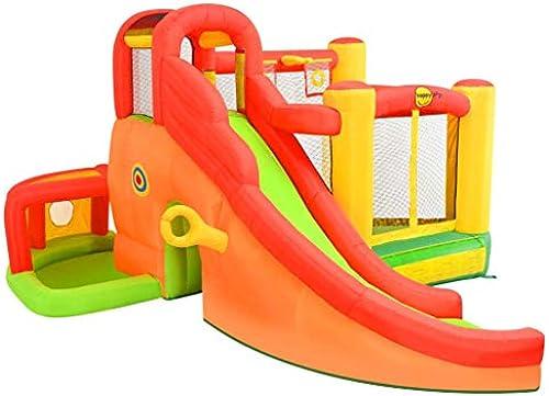 Festnight- Aufblasbare Hüpfburg mit Rutsche Happy Hop Kinderspielplatz Garten450x380x230 cm PVC