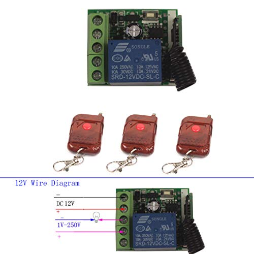 For Sale! Wireless Relay 12V 10A 1CH Remote Control Switch Momentary Toggle Delay Switch【Changeabl...