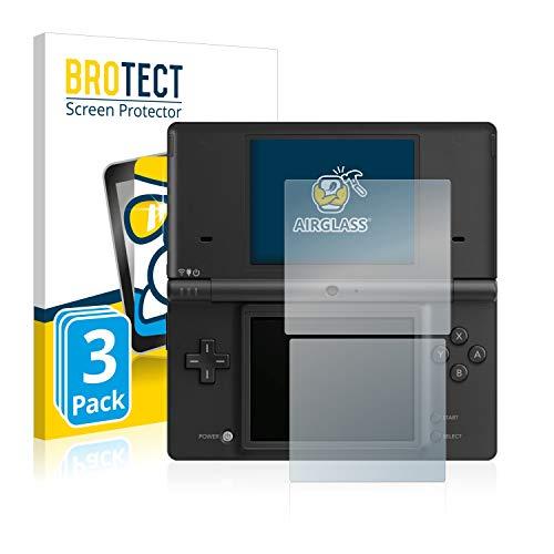 BROTECT Panzerglas Schutzfolie kompatibel mit Nintendo DSi (3 Stück) - AirGlass, extrem Kratzfest, Anti-Fingerprint, Ultra-transparent