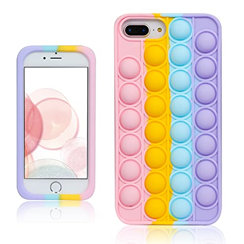 Besoar Color Bubble para iPhone 6 Plus/6S Plus/7 Plus/8 Plus 5.5' Funda Diseño Gracioso Dibujos Niños Niñas Mujer Lindo Precioso Moda Suave Divertido Frio Burbuja Casos para iPhone 6/6S/7/8 Plus 5.5'