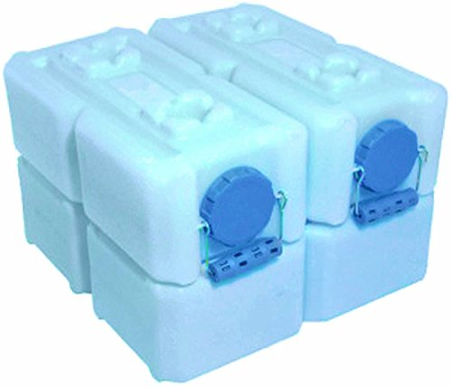 (4) Waterbrick 3.5 Gallon Blue Waterbricks Containers