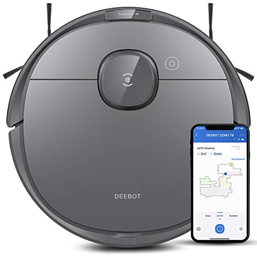 Ecovacs Deebot T8 Robot Vacuum and Mop Cleaner, Precise Laser Navigation, Multi-floor Mapping,...