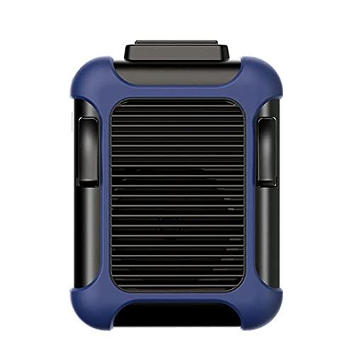 QINX Mini ventilador portátil con clip para la cintura, USB recargable, 4000 mAh para trabajar al aire libre, camping, pesca