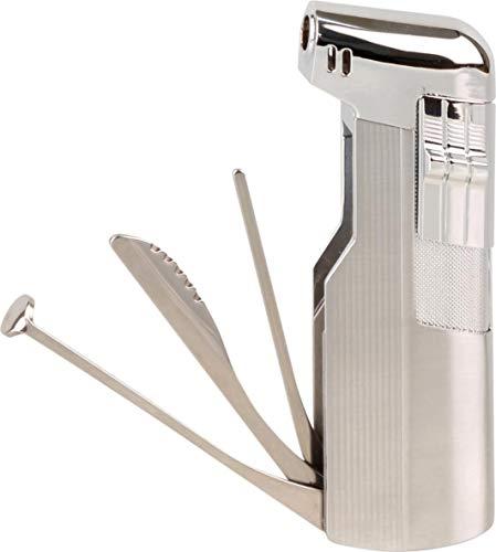 Lifestyle-Ambiente Jean Claude Pfeifenfeuerzeug Glasgow mit Pfeifenbesteck inkl Tastingbogen