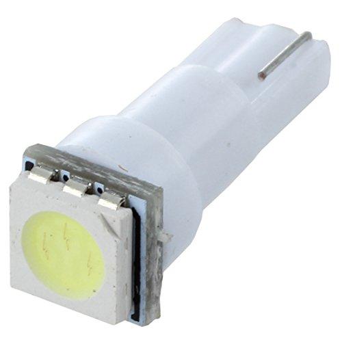 GEEKEN 10X coche T5 5050 bombillas de LED SMD 1 Dashboard Blanco lampara de luz 74 37 286 18 27 12v