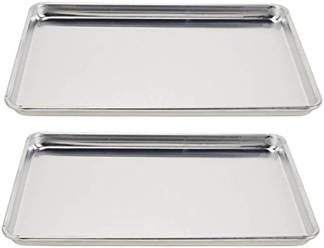 Vollrath 5303 Wear Ever Half Size Sheet Pans Set Of 2 18 Inch X 13 Inch X 1 Inch Aluminum
