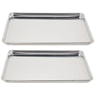 Vollrath (5303) Wear-Ever Half-Size Sheet Pans, Set of 2 (18-Inch x 13-Inch x 1-Inch, Aluminum)