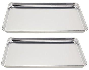 Vollrath  5303  Wear-Ever Half-Size Sheet Pans Set of 2  18-Inch x 13-Inch x 1-Inch Aluminum
