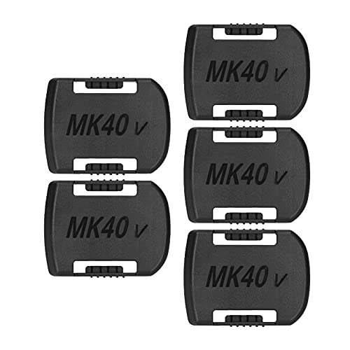 Daseey 5 PCS Battery Mount Replacement for Makita 40V Lithium Battery Wall Clip Belt-Type Battery Organizer Holder for Lithium Batteries Wall Mount Display