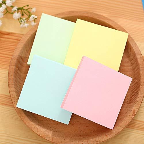 400 Pagine Note Adesive Blocchetti Memo Adesivi Removibile Riciclata per Ufficio Scuola Casa, 4 Colori, 3 X 3 Inch