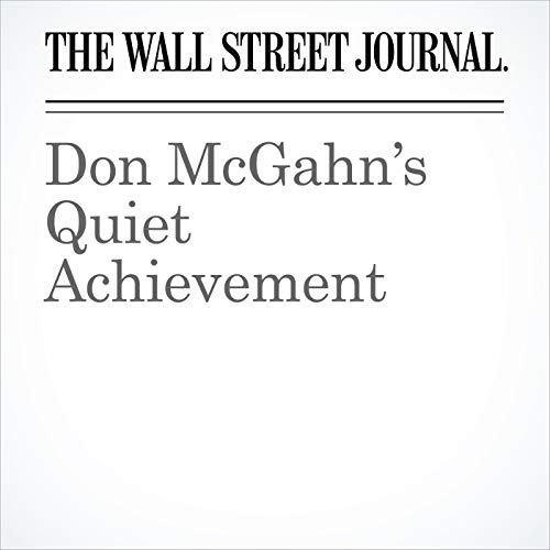 Don McGahn's Quiet Achievement copertina