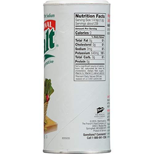 NoSalt Original Sodium-Free Salt Alternative 11 Ounce (Pack of 2)