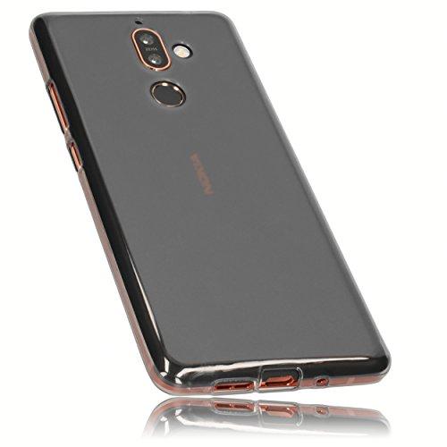 mumbi Hülle kompatibel mit Nokia 7 Plus Handy Hülle Handyhülle, transparent schwarz