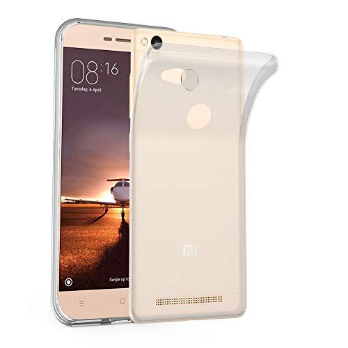 Cadorabo Funda para Xiaomi RedMi 3S en Transparente - Cubierta Proteccíon de Silicona TPU Delgada e Flexible con Antichoque - Gel Case Cover Carcasa Ligera