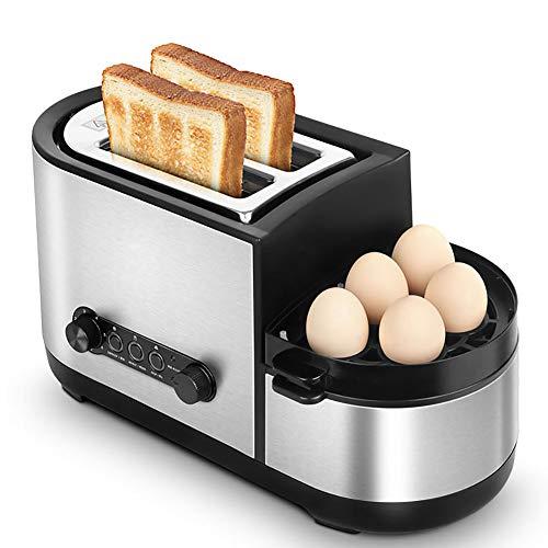WZYJ Tostadora multifunción sandwichera Hornear Cocinar freír en un Desayuno Máquina casa rápido Tostadora Calefacción 220V