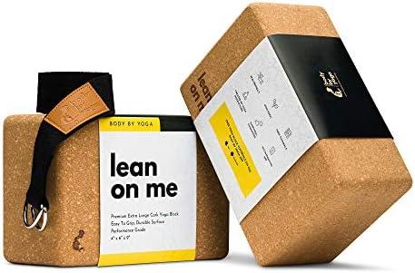 Luxury Cork Yoga Block Set Extra Large Yoga Blocks with Performance Grade Natural Portuguese product image