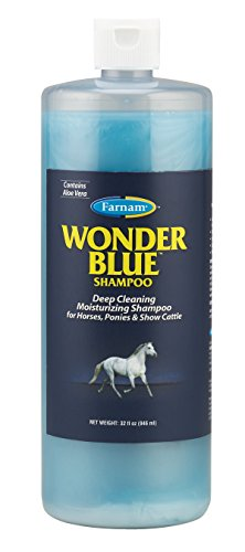 Farnam Wonder Blue Deep Cleaning Moisturizing Shampoo   for Horses and Show Cattle   32 oz