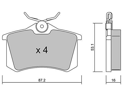 metelligroup 22-0100-2 Bremsbeläge, Made in Italy, Ersatzteile für Autos, ECE R90-zertifiziert, Kupferfrei