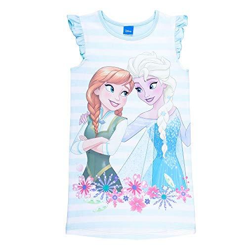 Disney Mädchen Die Eiskönigin, Frozen ELSA und Anna Nachthemd, blau, Größe 98, 3 Jahre