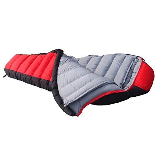 FKB@ED Saco de dormir para adultos, sacos de dormir de invierno para acampar, sacos de dormir sobres extra cálidos con saco de compresión para caminatas con mochila, rojo