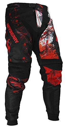 HEYBERRY Motocross Enduro Quad Hose schwarz weiß rot Gr. XXL
