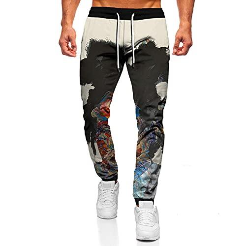 Primavera otoño Pintura al óleo Impresión 3D Pantalones de Hombre Pantalones Deportivos de Gran tamaño Hip Hop Streetwear Pantalones Casuales Gimnasio Pantalones de fitness-12_XXL
