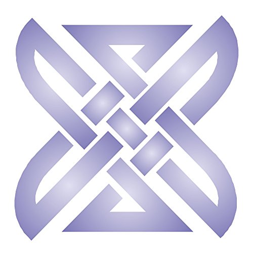 Square Knot Stencil, 3.25 x 3.25 inch (S) - Celtic Knotwork Symbols Stencils for Painting Cards