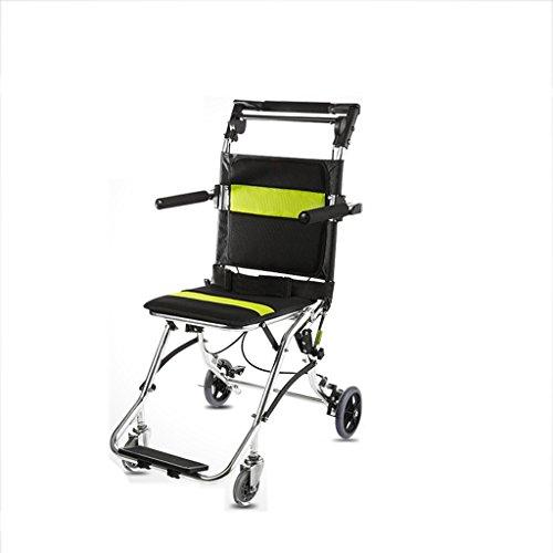 LLN Falte Leichte Rollstuhl Aluminiumlegierung 6,2 Kg Ultra-Portable Handbremse Cross-Border-Reise Älteren Warenkorb Schwarz