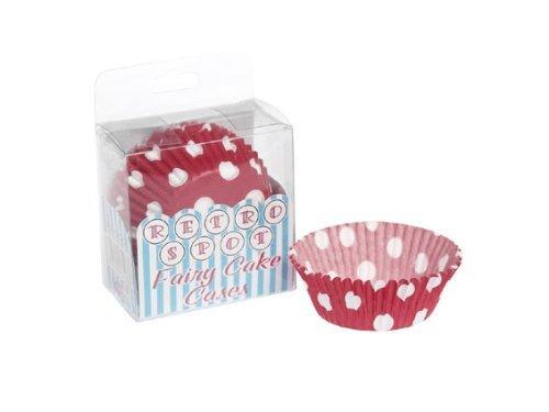 Pack de 72 Moules en Papier Dcoratif - Polka Fairy Cake - Petit Pois - 7cm x 2,5cm
