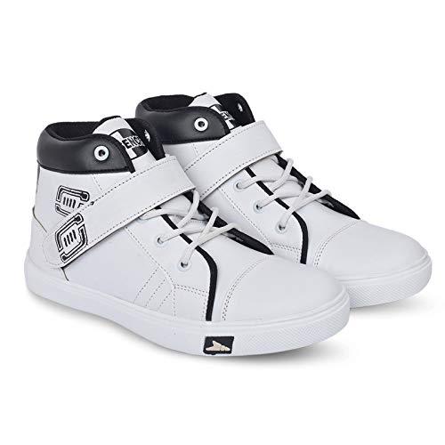 ESSENCE Boy's White Casual Shoes Zumba_4