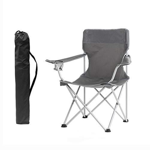 PLL stoel buiten klapstoel campingstoel draagbare stoel strandstoel vissen stoel kruk grijs