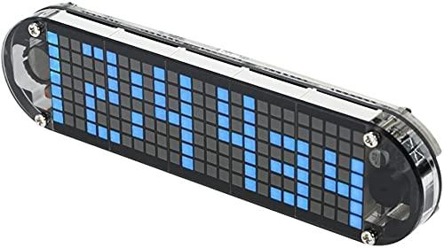 walmeck Digital LED Clock,DS3231 High Accuracy DIY Digital Dot Matrix LED Alarm Clock Kit with Transparent Case Temperature Date Time Display