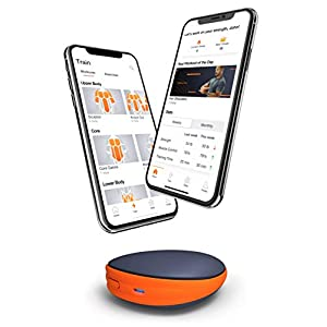 Activbody Activ5 Handheld Isometric Strength Training Device – for Arms, Legs, Upper and Lower Body Muscles – Portable and Lightweight - with Customized Workout Trainer App, Black & Orange