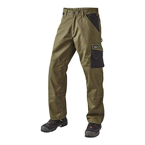 J.A.K. 920635B084 Serie 9206 65% Polyester/35% Baumwolle Bundhose, Army/Schwarz, 48 L (34/35) Größe
