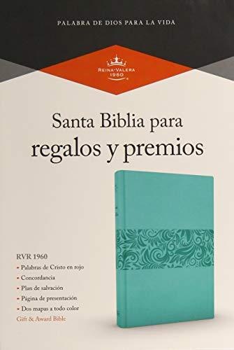 RVR 1960 Biblia para Regalos y Premios, azul turquesa símil piel
