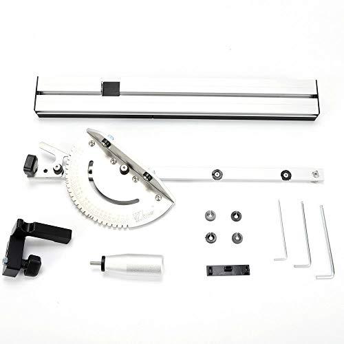 RANZIX Miter Gauge - Set per sega circolare da tavolo, con sistema di bloccaggio Flip Stop regolabile, 450 mm, accessorio Herrscher