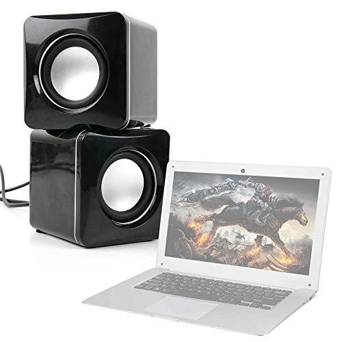 DURAGADGET Altavoces Compactos para Portátil Jumper EZbook 2, Jumper Ezbook 3 Pro, Jumper EZbook 3SE - Tamaño Mini - Conexión Mini Jack + USB