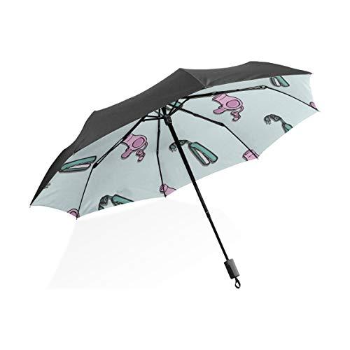 Kinder Regenschirm Mädchen Kreative Mode Wohnaccessoires Mopp Tragbare Kompakte Taschenschirm Anti Uv Schutz Winddicht Outdoor Reise Frauen Regenschirm Für Jungen