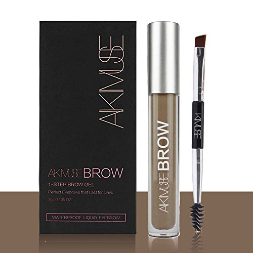 ROMANTIC BEAR Wasserfest Augenbrauen Farben Gel Mit Pinsel Set,Anti-discoloration Eyebrow Gel,BRUNETTE