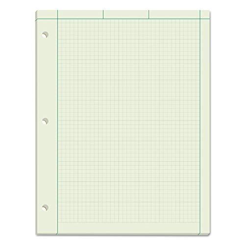 TOPS Engineering Computation Pad - 100 Sheet - 15 lb - Letter 8.50quot; x 11quot; - 50 / Pad - Green Paper