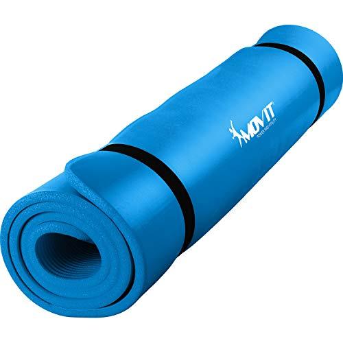 Movit XXL Pilates Gymnastikmatte, Yogamatte, phthalatfrei, 190 x 100 x 1,5cm, Himmelblau