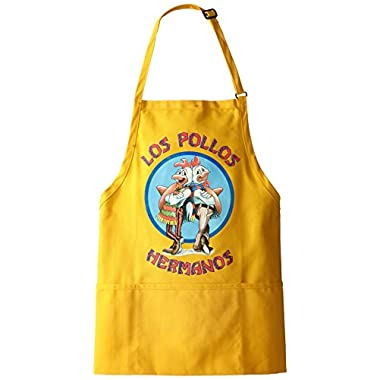 Breaking Bad Men's Los Pollos Hermanos Apron, Yellow, One Size