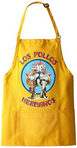 Breaking Bad Men's Los Pollos Hermanos Apron, Yellow, One...