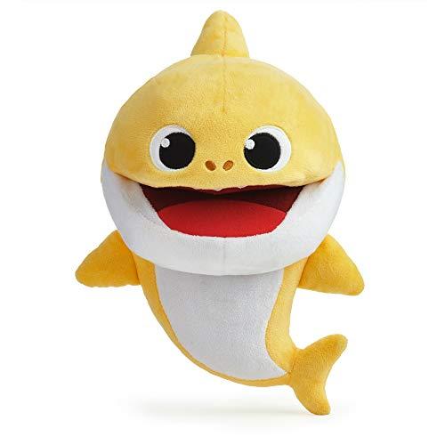 Boti 36475 Shark Handpuppe, Baby Hai mit Soundfunktion und Geschwindigkeitskontrolle, ca. 27 x 21 x 14 cm groß aus weichem Polyester, batteriebetrieben